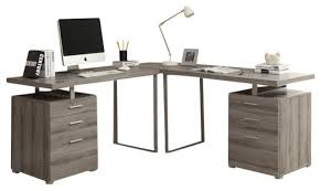 Monarch Specialties L Shaped Desk L Shaped Corner Computer Desk Contemporary Desks And Hutches