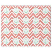 nautical wrapping paper coral pink and white chevron with mint nautical wrapping paper