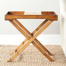 folding oversized wood tray table in espresso buy tray tables from bed bath beyond