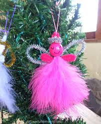 made feather pipe cleaner easy ornaments