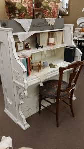 Vintage White Desks by Repurposed Vintage Piano Into A Gorgeous Desk The Shabby White