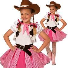 girls cowgirl cutie costume kids western cow fancy dress
