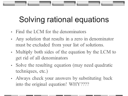 rational equations worksheet solving equations containing rational expressions ppt