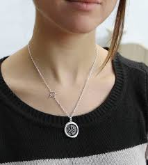 wax seal jewelry silver snowflake wax seal necklace jewelry necklaces