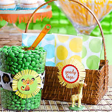 theme baby shower jungle theme baby shower favor bags idea party city party city