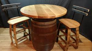 Barrel Bistro Table Barrel Bistro Table The Oak Barrel Company