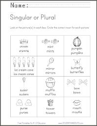 singular or plural worksheet