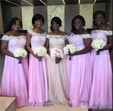 african plus size bridesmaid dresses off the shoulder lace top