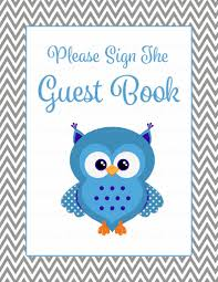 baby shower guest list set owl baby shower theme for baby boy