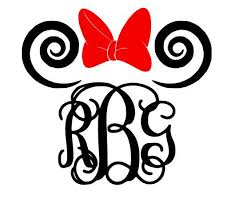 minnie mouse monogram wedding theme minnie mouse vine monogram 2308528 weddbook