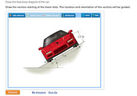 draw the free body diagram of the car draw the ve chegg com