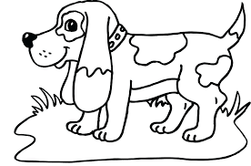 dog coloring pages for toddlers dog coloring pages awesome free dog coloring pages kids cute cartoon