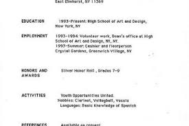 My First Job Resume by My First Resume My First Resume Reentrycorps