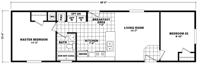 Single Wide Mobile Home Floor Plans 2 Bedroom Noland 14 X 48 640 Sqft Mobile Home Factory Select Homes