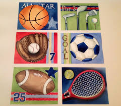 Boys Wall Decor Sports Boy Nursery Art Sports Artwork Sports Bedding Decor