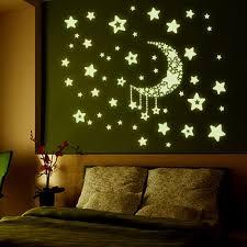 popular fluorescent star stickers buy cheap fluorescent star new 3d diy removable stars luminous wall sticker fluorescence stars moon poster mural vinyl glow in