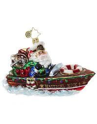 nautical nick santa speed boat ornament 1018794 digs n gifts