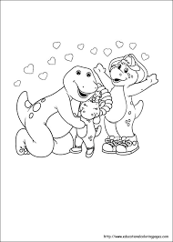 barney coloring pages educational fun kids coloring pages