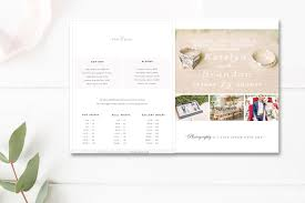 Indesign Price List Template Indesign Template Wedding Photography Magazine Template