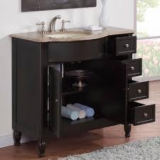 58 Inch Bathroom Vanity by Bathroom Vanity With Off Center Sink Silkroad Exclusive 58 Inch
