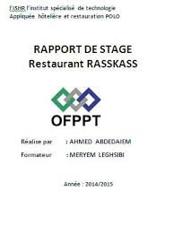 rapport de stage 3eme cuisine exemple de rapport de stage en cuisine gratuit rapport de stage et