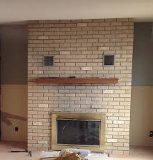 Brick Fireplace Paint Colors - 70s fixer upper brick fireplace makeover before and after