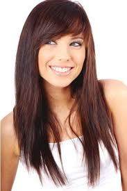 long straight hair with side bangs hair ideas pinterest side