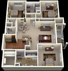 how to design house plans interior 3 bedroom apartment floor plans 600x628 dazzling house