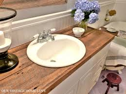 cheap bathroom countertop ideas spacious hate your countertops diy salvaged wood counter cheap and