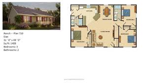 ranch plans modular home ranch plan 710 2 jpg on ranch style modular floor