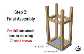 How To Build A Wood Table Top Podium by Easiest Bar Stools Ever Free Diy Plans Rogue Engineer