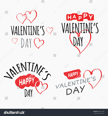 valentines day labels set holidays symbols stock vector 558611536