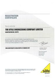 certificates utile engineering