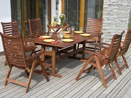 Wood Patio Dining Table by Outdoor U0026 Garden 6 Piece Weathered Teak Outdoor Patio Furniture