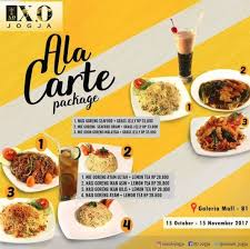 cuisine en promo ala carte package promo from x o suki cuisine at galeria mall