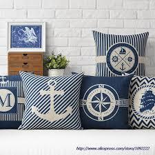 Decorative Pillows For Sofa by Online Get Cheap Nautical Throw Pillows Aliexpress Com Alibaba