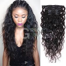 human hair clip in extensions water wave clip in human hair extensions and wavy hair