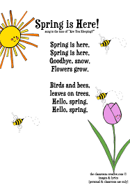 freebie spring song printable for kids