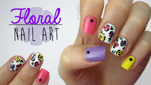 colorful floral nails using a toothpick youtube