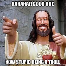 Hahahah Meme - hahaha good one now stupid being a troll make a meme