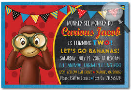 how to create curious george birthday invitations amazing