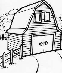 trend barn coloring page 77 for your coloring for kids with barn