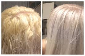 silver blonde color hair toner toning blonde hair from brassy yellow or orange to silvery white