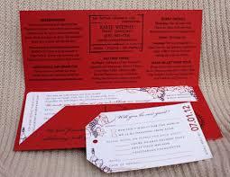 Boarding Pass Wedding Invitation Card Red U0026 Purple Grape Vines U0026 Wine Napa Valley Airline Ticket
