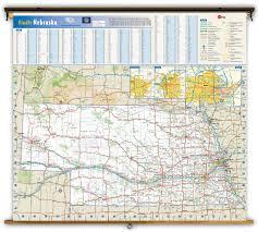 Nebraska County Map Nebraska State Reference Wall Map From Geonova