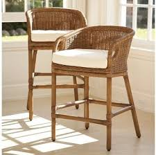 Traditional Kitchen Stools - wingate rattan barstool pottery barn traditional bar stools