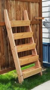 ana white build a cedar vertical tiered ladder garden planter