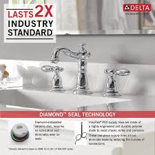 Delta Faucet 3555lfss 216ss Victorian by 3555 Mpu Dst Two Handle Widespread Lavatory Faucet