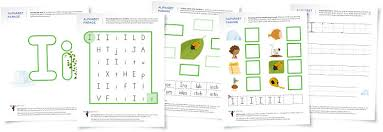 alphabet parade letter i worksheets and activity suggestions