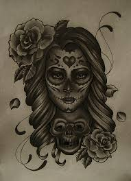 mexican sugar skull tattoo for girls